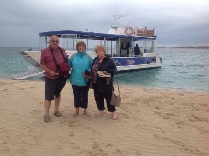 Klaar voor de Glass Bottem Boat Tour