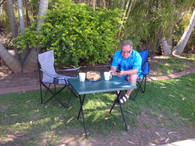 Ontbijt op Clogs Barn Caravan Park