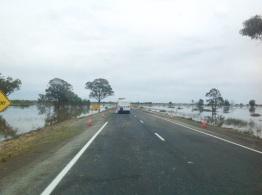 Overstromingen onderweg