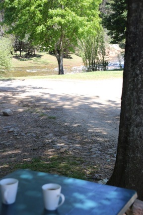 Uiticht vanaf de camper