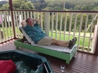 Relaxen op het Deck