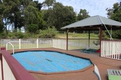 Zwembad in het deck