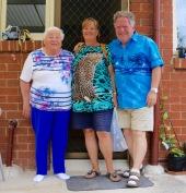 Thea, Margareth en Frans