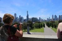 Uitzicht over Melbourne vanaf de Shrine