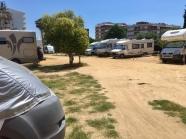 Pineda de Mar ons plekje op de camperplaats