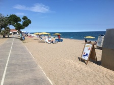 Het strand van Pineda del Mar