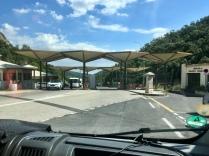 De oude grenspost tussen Frankrijk en Spanje
