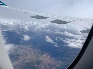 Tussen de wolken nog een stukje Australia omgeving Mildura