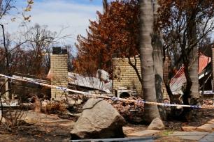 Uitgebrande woning in Mallacoota