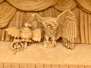 Zandsculptuur roofvogel