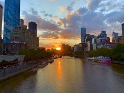 Zonsondergang over de Yarra River
