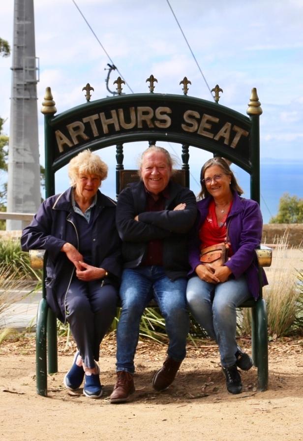Anne, Frans en Margareth op Arthurs Seat