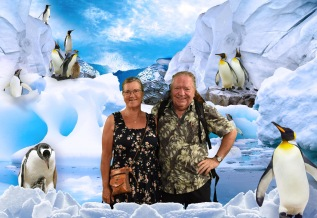 Frans en Margareth in het Melbourne Aquarium