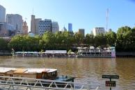 Terrasjes aan de Yarra River