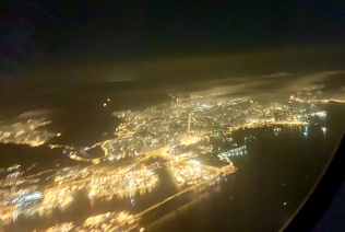 De lichten van een buitenwijk van Hongkong