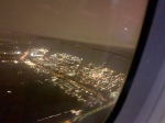Amsterdam vanuit het vliegtuig