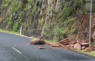 Rotsblok op de weg naar Walhalla