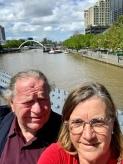 Frans en Margareth aan de Yarra River