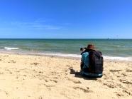 Frans op st. Kilda Beach