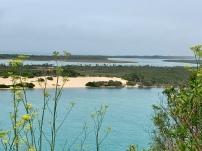 Een deel van de meren achter de duinen