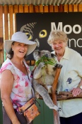 Anne en Margareth met koala Vincent