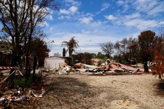 Ruine van een huis in Mallacoota