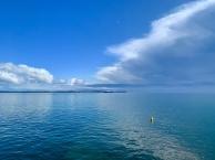 Onweerswolken boven de Bass Strait en Point Nepean