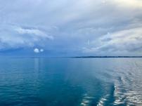 Uitzicht vanaf de veerboot